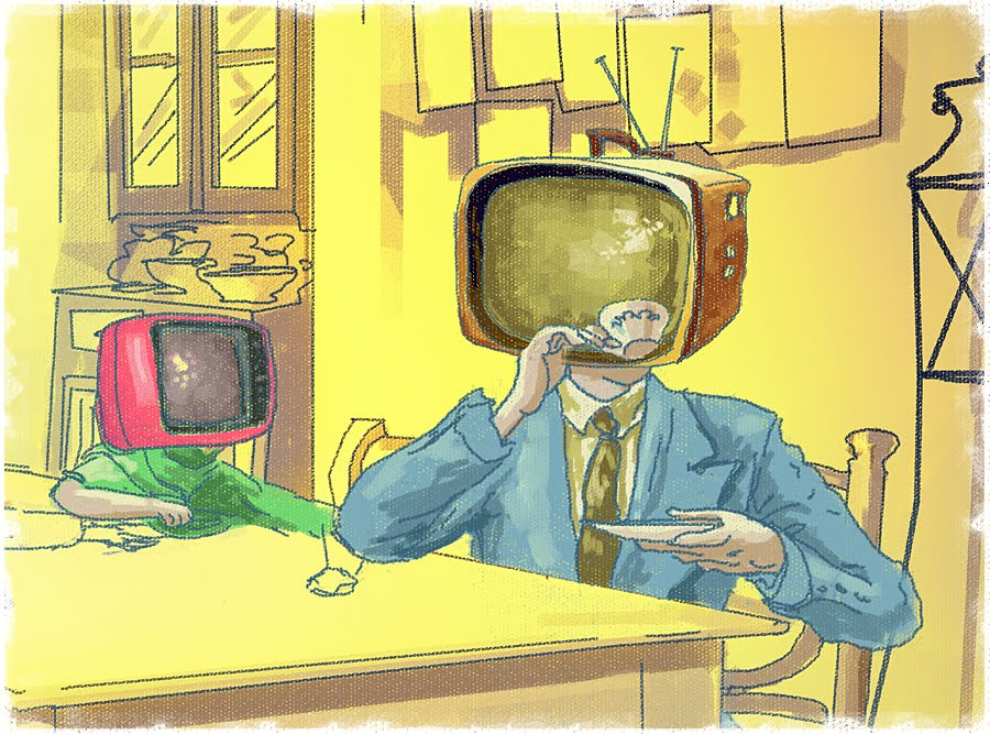 "the effect of television on manipulating people ""with 24-hour news channels, phones, the internet, and television, young people are simply trying to figure out how they fit into this world, and they look to media for the answer"" dr vinson continues, ""this, however, is the new normal."